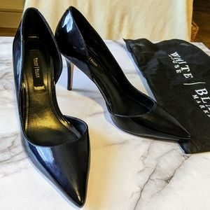 Dark Navy Patent Leather Heels